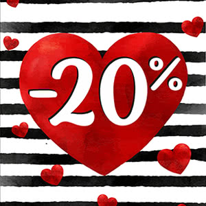 Madoc. Discount of 20% for a new collection for Valentine's Day!
