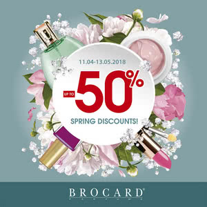 BROCARD 11.04-13.05 «Spring discounts to -50%!»