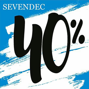 Sevendec. For a new collection, a 40% discount!