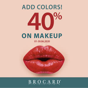 Add some color: -40% on makeup