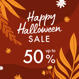 Happy Halloween SALE -50%