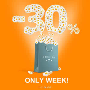Only a week-30% on your favorite brands from the BROCARD!