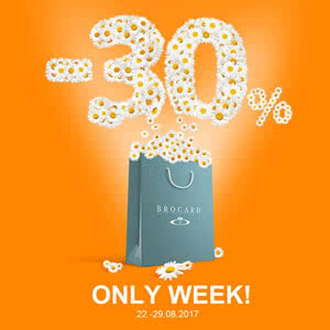 Only a week-30% on your favorite brands in the BROCARD store!