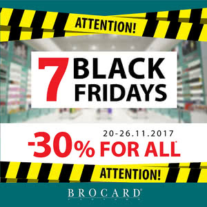 7 Black Fridays -30% for everything!