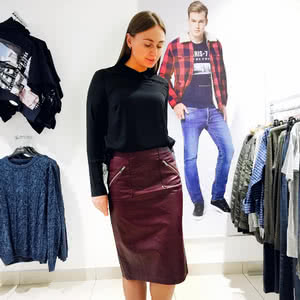 Luxe and stylish leather became a symbol for feminine skirts sexy and fashionable