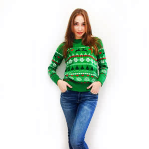A sweater with a thematic New Year pattern will always be actual!)