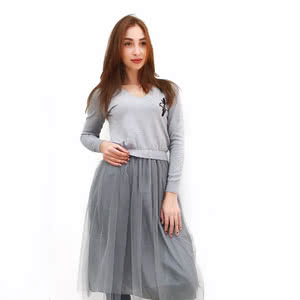 Gray dress – is one of the best options for a stylish image