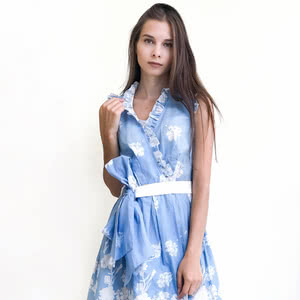 Tender dress in a blue color will bring you up in the seventh heaven with happiness!