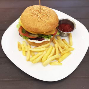 Hungry? Then the VIP burger is for you!