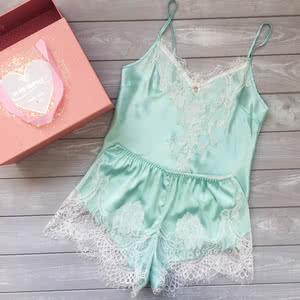 Available now Mint 2 piece set in silk – 1740 UAH