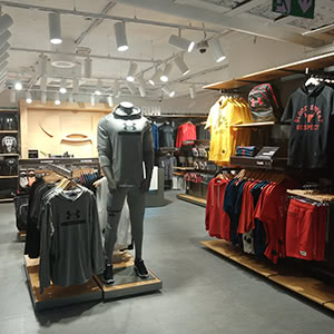 Sport clothing and footwear store «Under Armour»